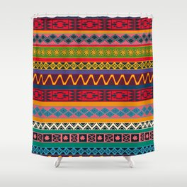 African pattern No4 Shower Curtain