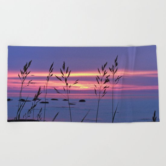 Simplicity by the Sea Beach Towel