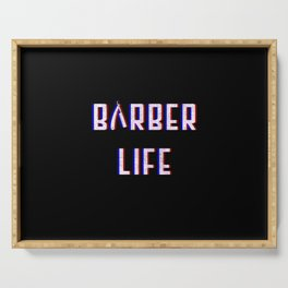 Barber Life Vintage Classic Barber Retro Distressed Gift Serving Tray