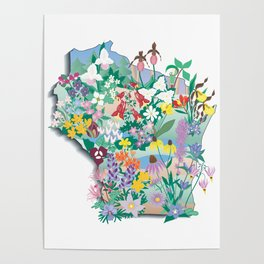 Wisconsin Wildflowers Poster