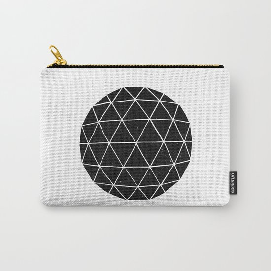 Dark Geodesic Carry-All Pouch