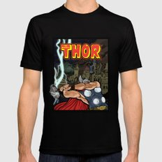 The Mighty Thor, God of Thunder 2X-LARGE Mens Fitted Tee Black