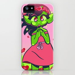 Goblin gal iPhone Case