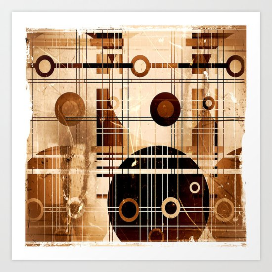 Music Grunge Party Art Print