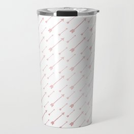 Simply Arrows in Rose Gold Sunset Travel Mug