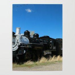 Denver & Rio Grande Steam Engine Poster