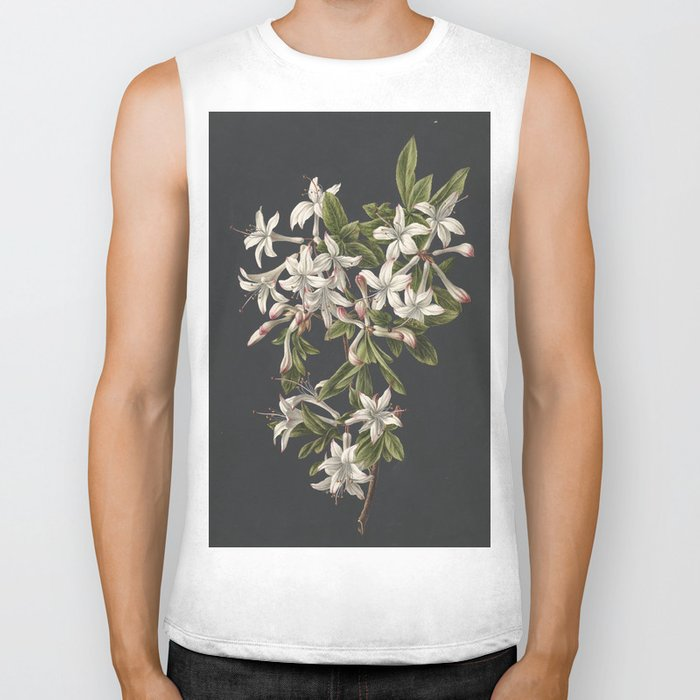 M. de Gijselaar - Branch of blooming azalea (1831) Biker Tank