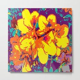 Yellow Azaleas Metal Print
