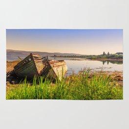 Old fishing boats Rug