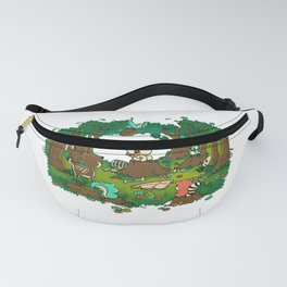 A little bunny WITH BIG POINTY TEETH! Fanny Pack