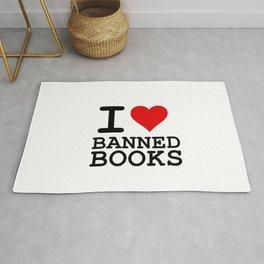 I Heart Banned Books Rug
