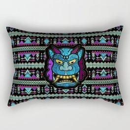 Aboriginal Aztec Inca Mayan Mask Mozaic Glass Rectangular Pillow