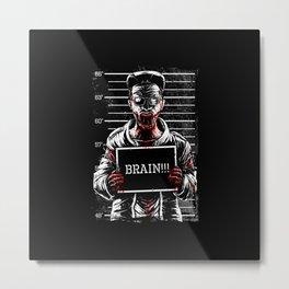 Zombie Mugshot Metal Print