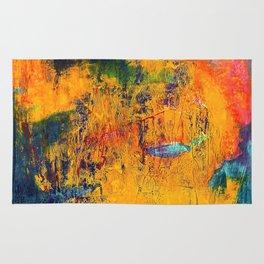 Imaginaere Landschaft II abstrakte Malerei Rug