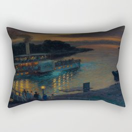 A Nightly River Cruise, Mississippi River by Ernst Max Pietschmann Rectangular Pillow