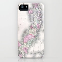 Vintage Map of Cuba (1861) iPhone Case