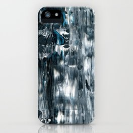Tear Black & White Textured Abstract no.180814 iPhone Case