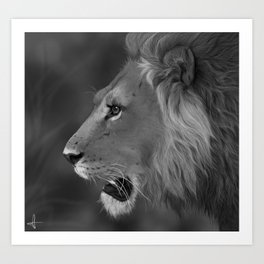 King of Savannah Art Print
