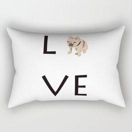 French Bulldog Love tan Rectangular Pillow