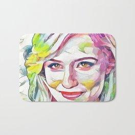 Dianna Agron (Creative Illustration Art) Bath Mat