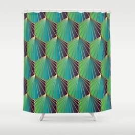 Glam Rock Ocean Blue Shower Curtain