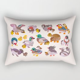 Duck and Duckling Rectangular Pillow