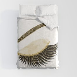 Glittery gold  lashes Comforters