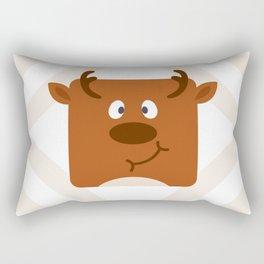 Cute Square Cartoon Reindeer Rectangular Pillow