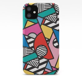 Colorful Memphis Modern Geometric Shapes - Tribal Kente African Aztec iPhone Case