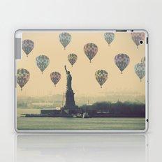 Balloons over Lady Liberty Laptop & iPad Skin