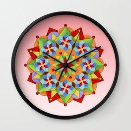 Manchester Mandala Wall Clock