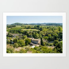 Carcassonne Countryside Art Print