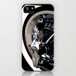 Hotrod hubcap iPhone Case