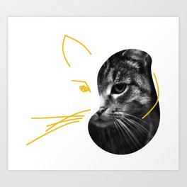 Gestalt Cat Art Print