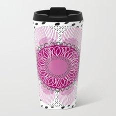 Pinky flower Metal Travel Mug