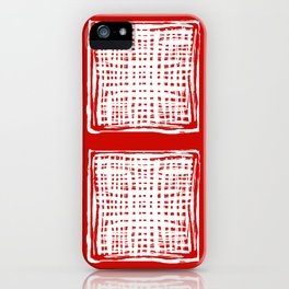 screen, white on red iPhone Case