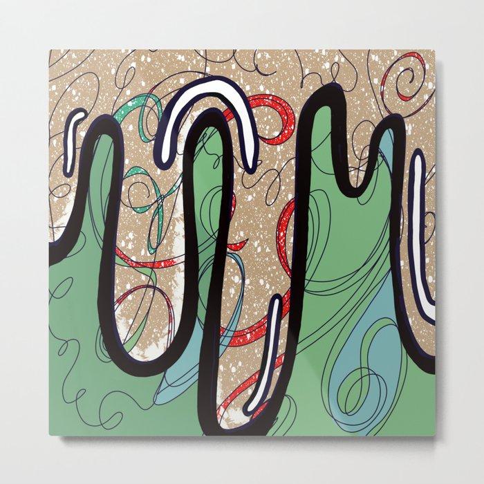Slinky Metal Print