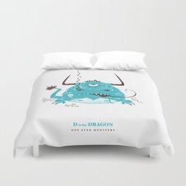 D is for Dragon Duvet Cover