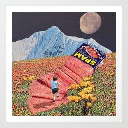 Spam Mountain Art Print