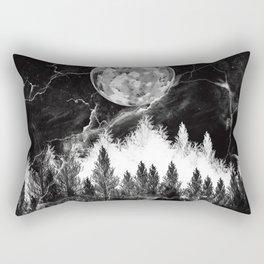 marble black and white landscape Rectangular Pillow
