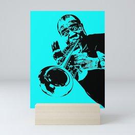 Teal Dreams Of Louis - Louie - Daniel Armstrong Satchmo - Satch - Pops - Pop Sketch-Art 77223 Mini Art Print