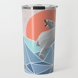 Polar Bear live in North Pole Travel Mug