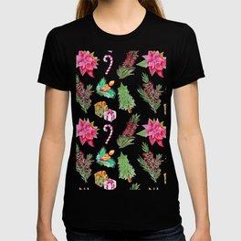 Christmas Pattern with Australian Native Bottlebrush Flowers T-shirt