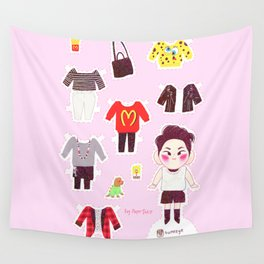 Key Paper Doll Wall Tapestry