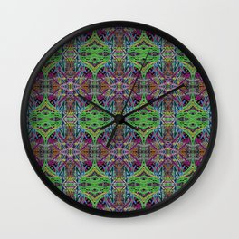 Pastel threads Wall Clock