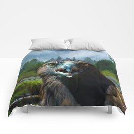 Alaskan Attitude - Bald Eagle & Misty Forest Comforters