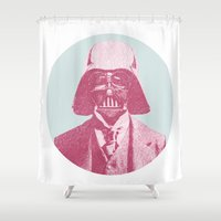 darth Shower Curtains featuring Darth Vader by Les petites illustrations