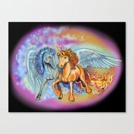 Wind an Flame Canvas Print