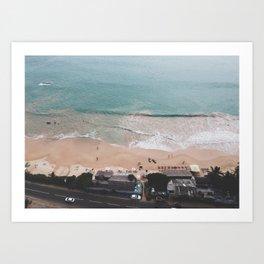 Aerial Mirissa Beach, Sri Lanka Art Print
