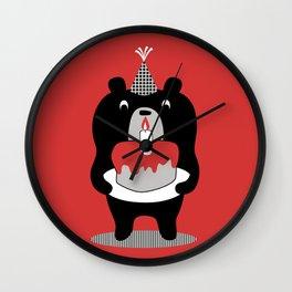 Cake Bear Wall Clock
